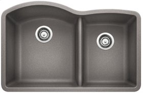 Blanco Diamond 1-3/4 Bowl With Low-divide - Metallic Gray