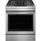 "Jenn-Air® 30"" Dual-Fuel Downdraft Range, Euro-Style Stainless Handle Product Image"
