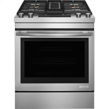 "Jenn-Air® 30"" Dual-Fuel Downdraft Range, Euro-Style Stainless Handle"