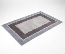 Light Gray / Dark Gray Shag Rug