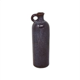 "Ceramic 10.25"" Tall Jug, Burgundy"