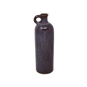 "Ceramic 10.25"" Tall Jug, Burgundy"