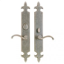 "Fleur de Lis Entry Set - 3"" x 21"" Silicon Bronze Brushed"