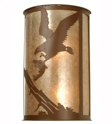 "12""W Strike of the Eagle Wall Sconce"