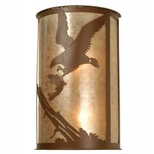 """12""""W Strike of the Eagle Wall Sconce"""