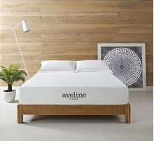 "Aveline 10"" California King Gel Memory Foam Mattress in White"