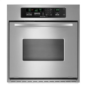 KitchenAid24-Inch Convection Single Wall Oven, Architect® Series II Handle - Stainless Steel