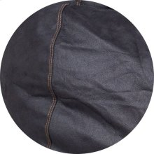Cover for Pillow Pod or Footstool - Faux Leather - Black