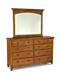 Pasadena Revival Eight Drawer Dresser Product Image