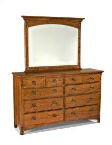 Pasadena Revival Eight Drawer Dresser