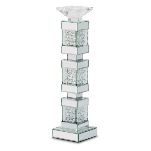 Mirrored/crystal Candle Holders Tall (2/pack)