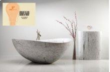 Papillon Bathtub Carrara Marble