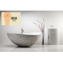 Papillon Bathtub Carrara Marble