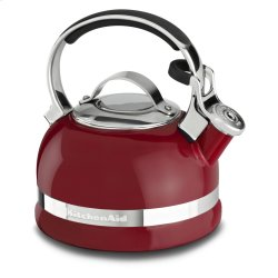 2.0-Quart Kettle with Full Stainless Steel Handle and Trim Band - Empire Red