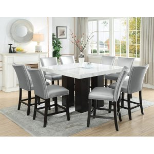 Steve Silver Co.Camila 9 Piece Square Counter Dining Set (Counter Table & 8 Counter Chairs)