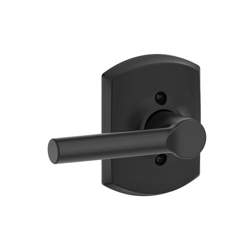 Broadway Lever with Greenwich trim Non-turning Lock - Matte Black