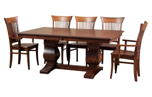 """45/68-2-12"""", *8/4* Thick Top Rectangular Trestle Table"""