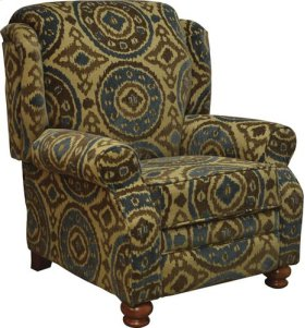 CLEARANCE ITEM--Reclining Chair - Peacock