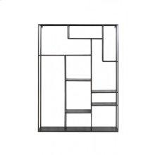Wall rack 110x25,5x150 cm TALARA antique black