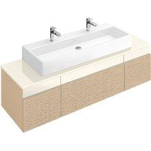 """Washbasin 47"""" (Ground) Angular - White Alpin"""
