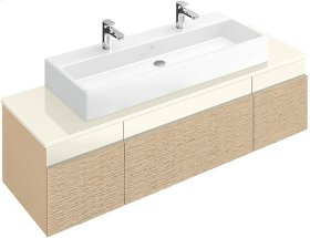 """Washbasin 47"""" (Ground) Angular - White Alpin CeramicPlus"""
