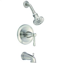 Brushed Nickel Eastham 1H Tub & Shower Trim Kit w/ Diverter on Spout 2.5gpm