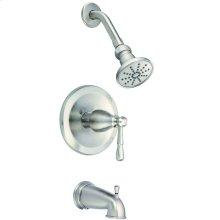 Brushed Nickel Eastham 1H Tub & Shower Trim Kit w/ Diverter on Spout 2.5gpm