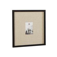 Black Wood Framed & Linen Eliza Wall Frame - 5x7