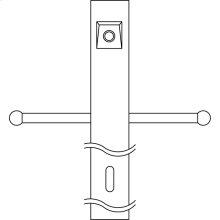 Post w/External Photoeye and ladder rest BK