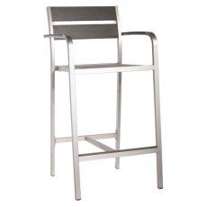 Megapolis Bar Arm Chair Brush Aluminum Product Image