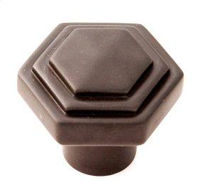 Geometric Knob A1535 - Chocolate Bronze