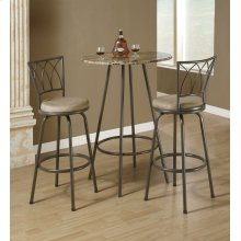 "BARSTOOL - 2PCS / 43""H / SWIVEL / DARK COFFEE METAL"
