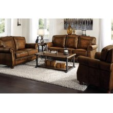 Montbrook Traditional Brown Three-piece Living Room Set