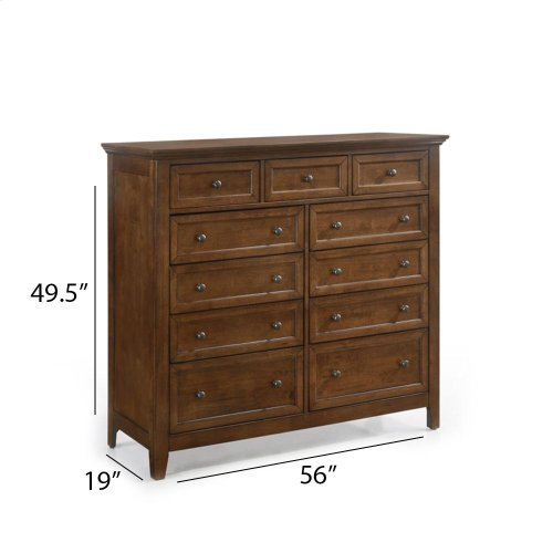Bedroom - San Mateo 11 Drawer Gentleman's Chest