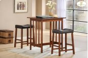 3-Piece Pack Counter Height Set, Cherry Table: 32 x 24 x 34H Stool: 19 x 13 x 24H