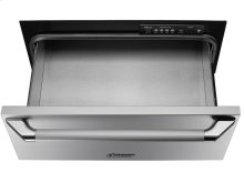 """Heritage 27"""" Epicure Warming Drawer, in Stainless Steel with Chrome End Caps"""