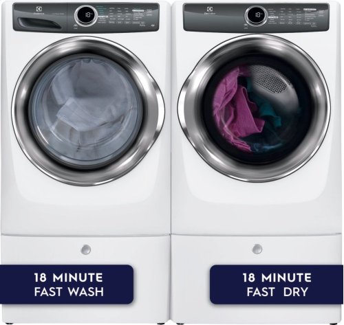 Front Load Perfect Steam Electric Dryer with Instant Refresh and 8 cycles - 8.0 Cu. Ft.