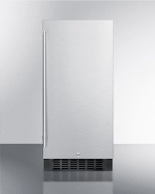 """15"""" Wide All-refrigerator for Built-in or Freestanding Use, With Reversible Stainless Steel Door and Lock; Replaces Ff1538bss"""