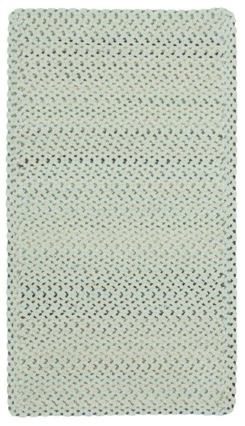 Dramatic Static Cyber White Braided Rugs (Custom)