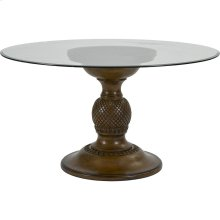 Amalie Bay Round Glass-Top Table