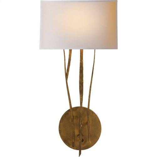 Visual Comfort S2050GI-NP Ian K. Fowler Aspen 1 Light 9 inch Gilded Iron with Wax Decorative Wall Light