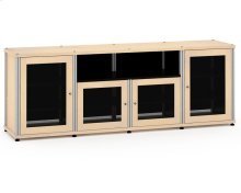 Synergy Solution 345, Quad-Width AV Cabinet, Maple with Aluminum Posts