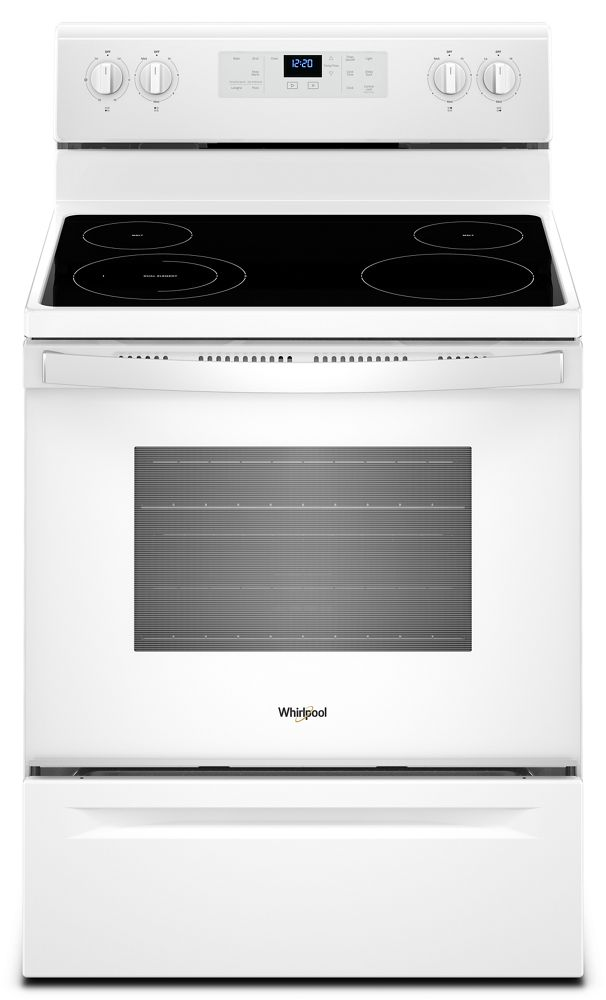 WFE510S0HW Whirlpool 5.3 cu. ft. Freestanding Electric Range with ...