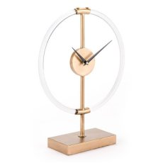 Clear Clock Gold Product Image