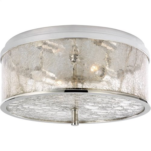 Visual Comfort KW4202PN-CRG Kelly Wearstler Liaison 2 Light 12 inch Polished Nickel Flush Mount Ceiling Light, Medium