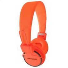 Polaroid Neon Noise Isolating Foldable Studio Headphones , Orange - PHP8400OR