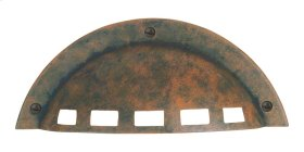 D Modern Craftsman Cup Pull 3 1/4 Inch (c-c) - Rust