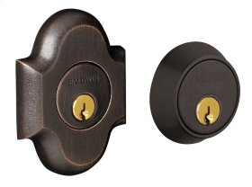 Distressed Oil-Rubbed Bronze Arched Deadbolt