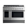 "Fisher & Paykel Dual Fuel Range, 48"", 6 Burners With Grill, Lpg"