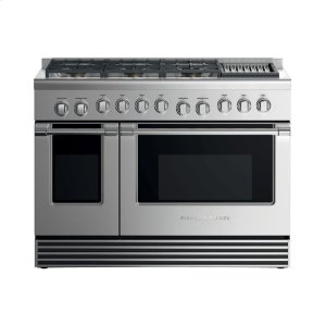 "Fisher & PaykelDual Fuel Range, 48"", 6 Burners with Grill, LPG"